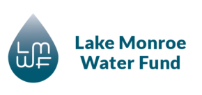 Water droplet with LMWF representing Lake Monroe Water Fund